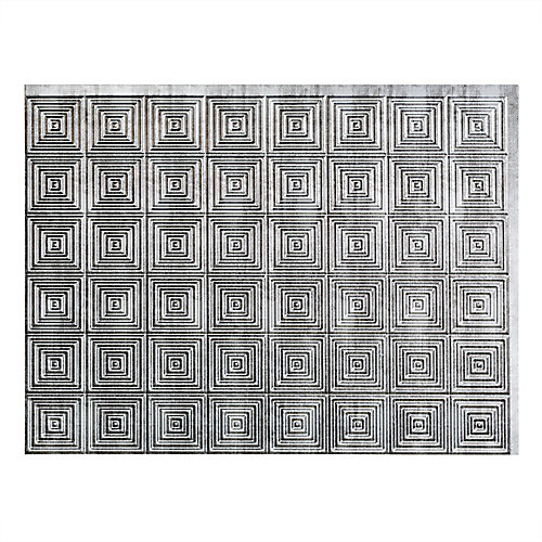 Miniquattro Argent Quadrillé 18 po x 24 po Panneau en PVC Pour Dosseret