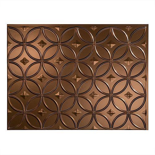 Fasade Rings Bronze Huilé 18 po x 24 po Panneau en PVC Pour Dosseret