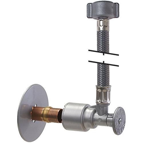 Fourniture et robinet d'arrêt pour robinet de 12 po PushOn