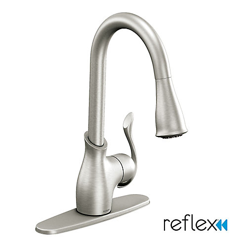 Boutique Single-Handle Reflex Pulldown Kitchen Faucet in Spot Resist Stainless Finish