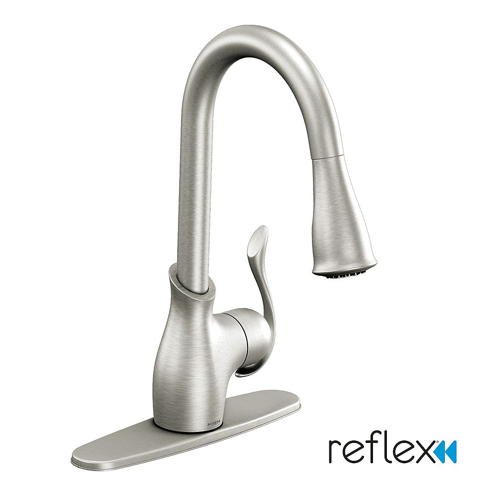 MOEN Boutique Single Handle Pull down Sprayer Kitchen Faucet with ...