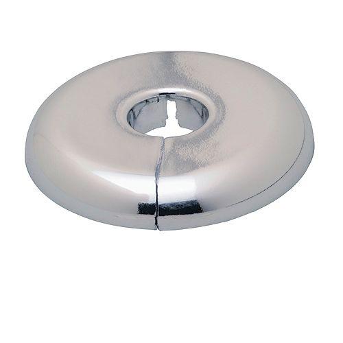 Bride de tuyau en deux pièces en plastique chromé 13 mm C ou 10 mm T.F