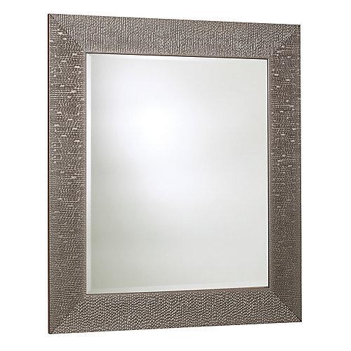 Miroir byzantium, argent Crystalized – 30.75 pouces X 42.75 pouces