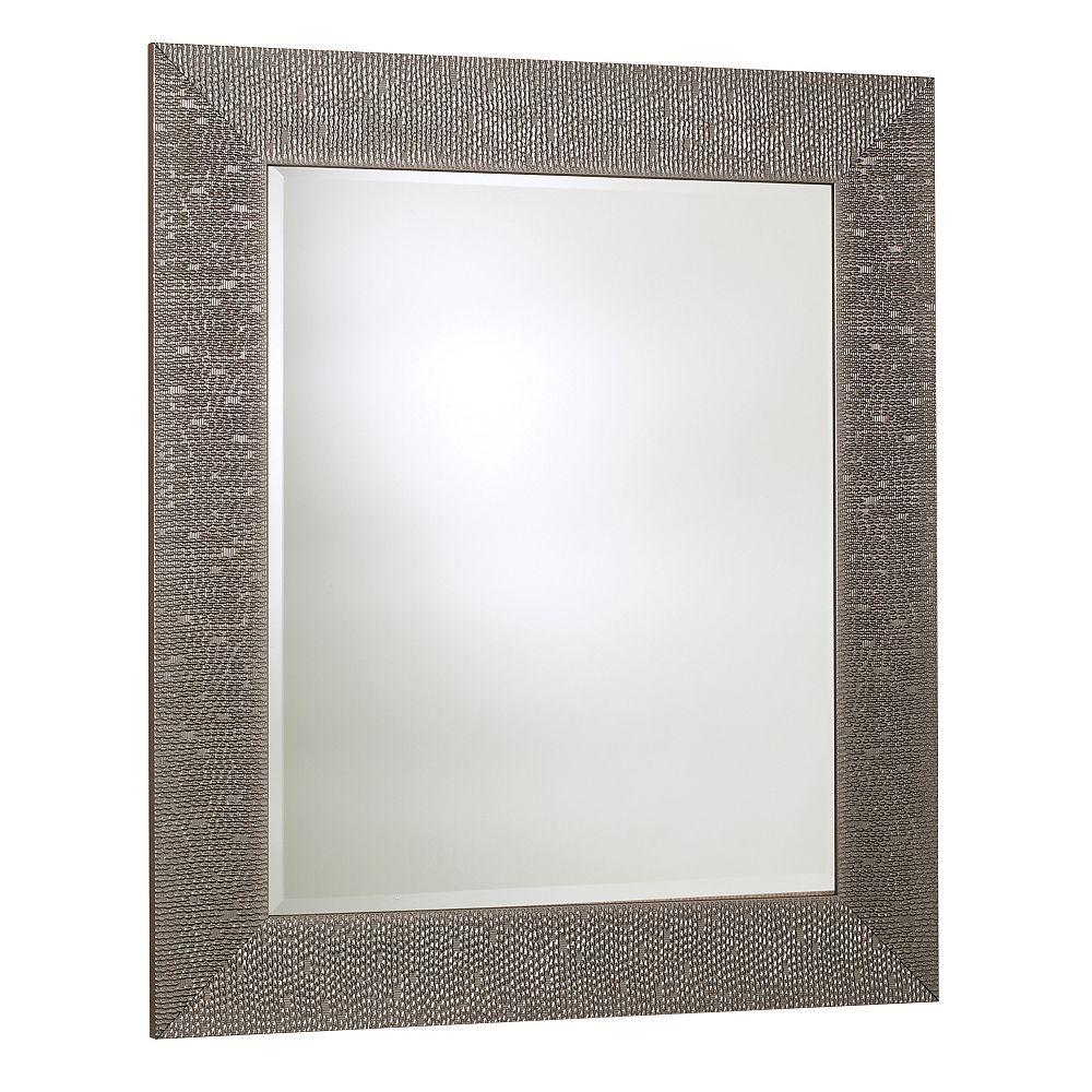 The Tangerine Mirror Company Miroir byzantium, argent Crystalized  30.75 pouces X 42.75 pouces
