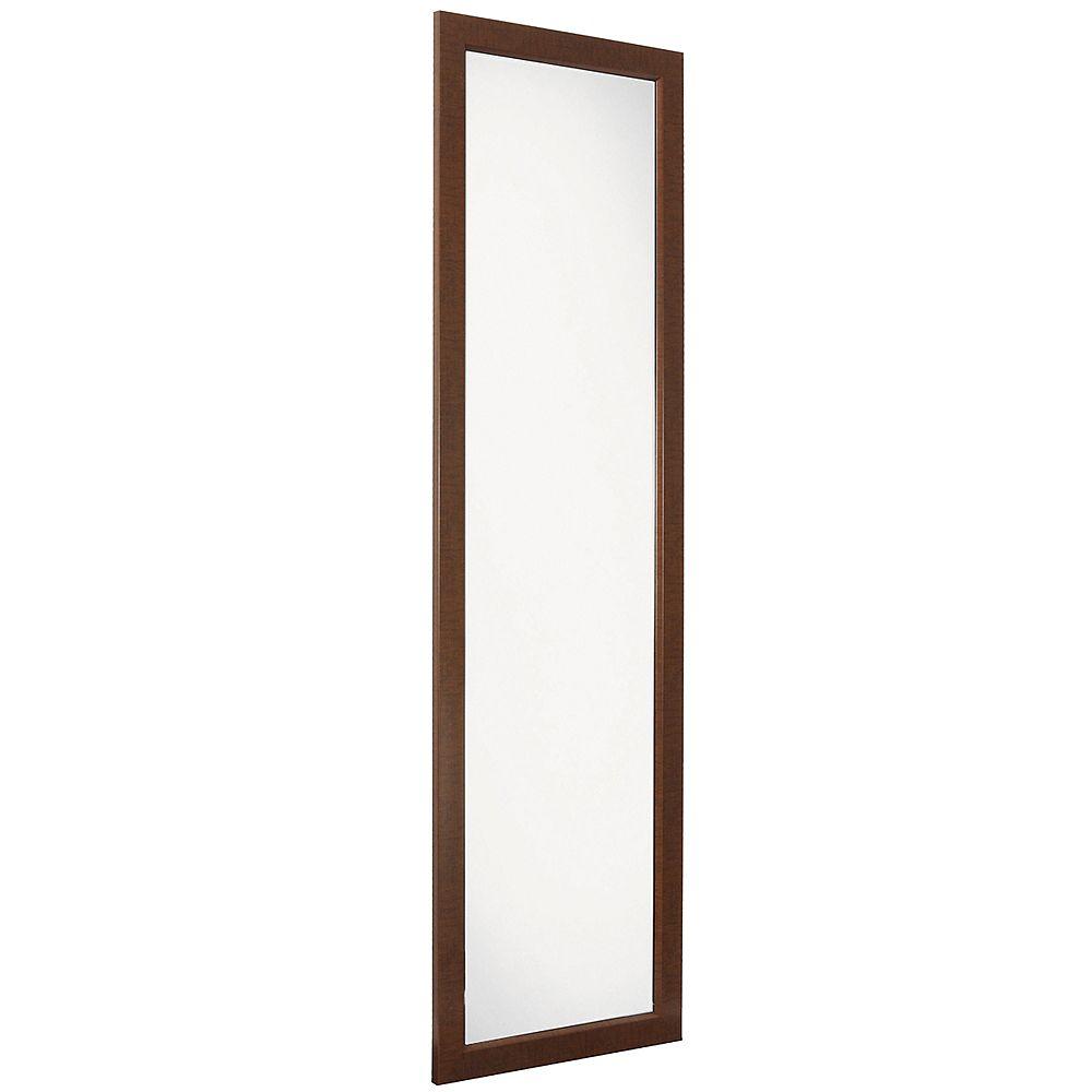Erias Home Designs Miroir De Porte Raven, 15 Po X 51 Po, Avec Cadre En Bronze Frotté