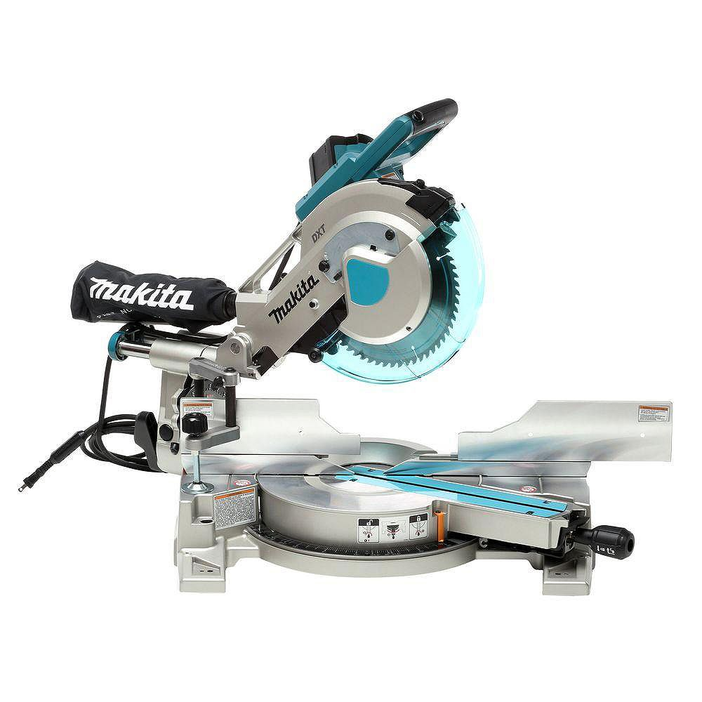 MAKITA 10-inch Dual Sliding Compound Miter Saw with Laser