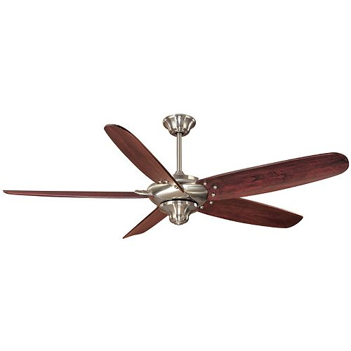 Hampton Bay Altura 56-inch Indoor Brushed Nickel Ceiling Fan with Remote Control
