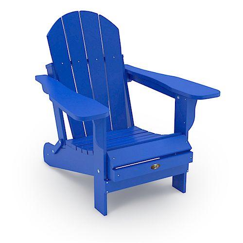 Chaise Adirondack pliante en plastique recyclé - Bleu