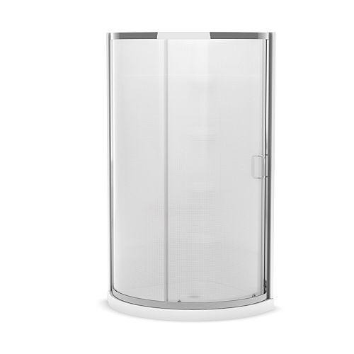Iris II 34-inch x 34-inch x 76-inch Round Shower Stall in White
