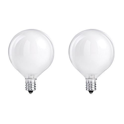 Philips Ampoule halogène de type globe G16.5, 40 W, blanc, ens. de 2