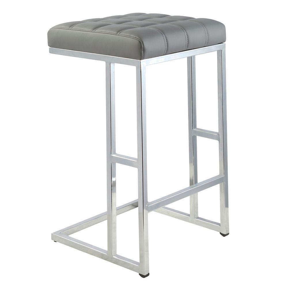 Worldwide Homefurnishings Inc. Ace Counter Stool - Grey - Box of 2