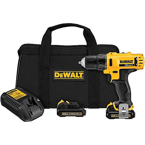 12V MAX Li-Ion Cordless 3/8-inch Drill/Driver Kit with (2) 12V Batteries 1.5Ah, Charger and Tool Bag