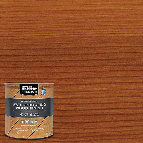 PREMIUM Transparent Waterproofing Wood Finish - Cedar Naturaltone No. 501, 946 mL