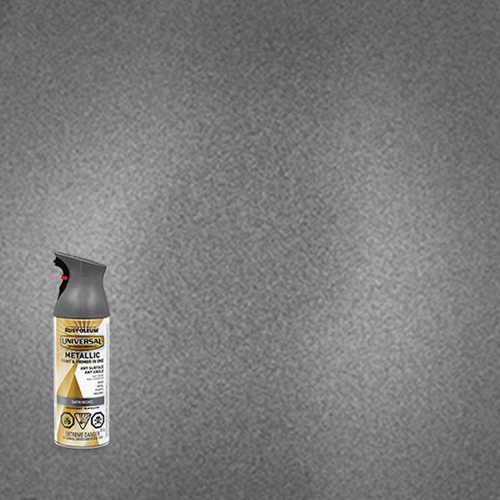 Rust-Oleum Universal Peinture Metallique Et Apprêt En Un Seul Produit En Nickel Satiné - 340 G Aerosol