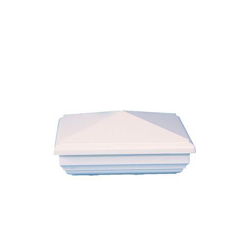 5 po x 5 po capuchon de poteau PVC New England- blanc