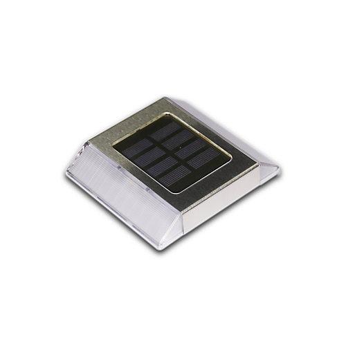 Lumière solaire à DEL intégré pour allées et terrasses, acier inoxydable