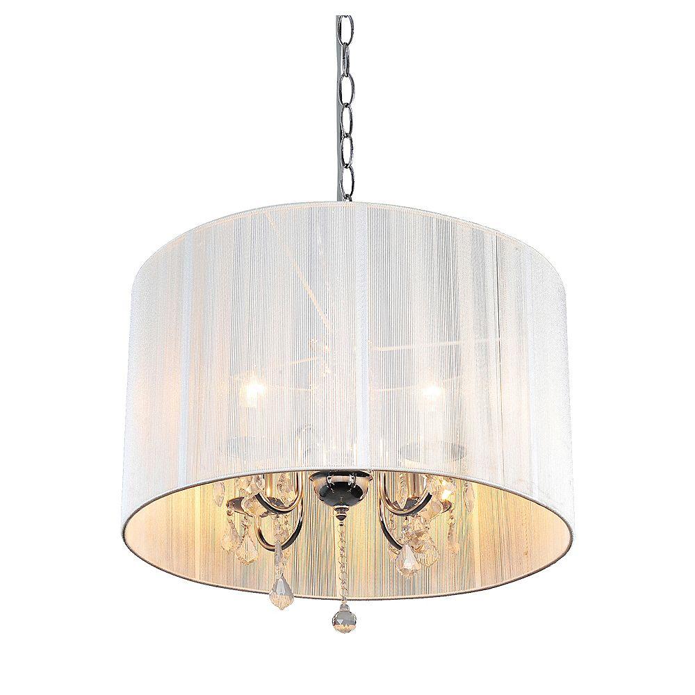 Shawson Lighting 22 Inches Pendant, Chrome Finish