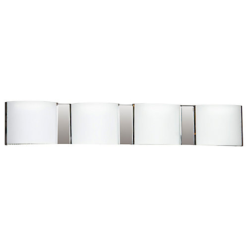 26-1/2-inch 4-Light 40W Wall Sconce in Chrome