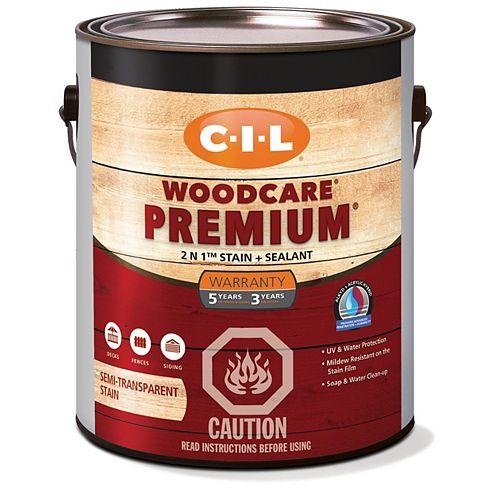 CIL Woodcare Premium semi-transparente - Base foncée 3,30 L-2915