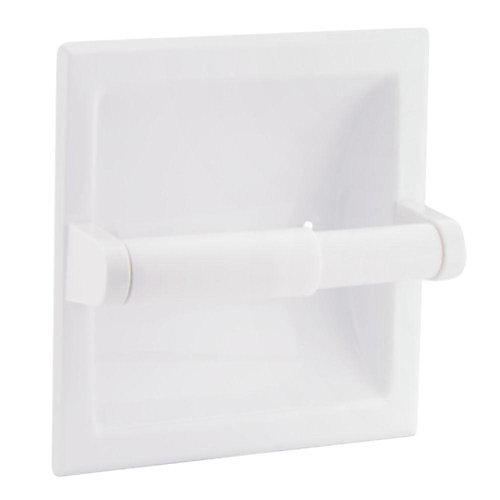 Donner Recessed Toilet Paper Holder - White