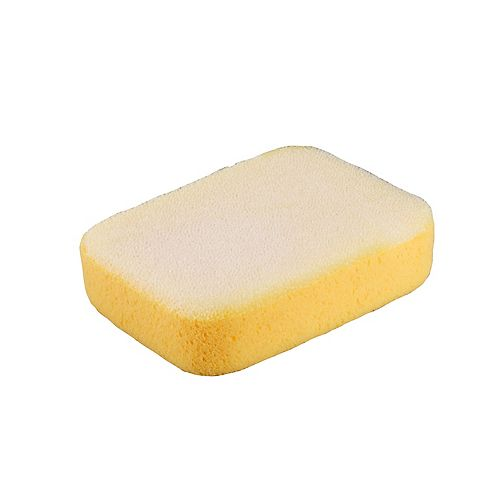 7-1/2 x 5-1/4 x 2 Inch Extra Large Scrubbing Sponge with Scrub Pad on One Side