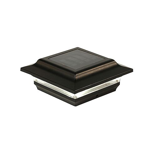 Imperial 4 inch x 4 inch Outdoor Black Cast Aluminum LED Solar Post Cap