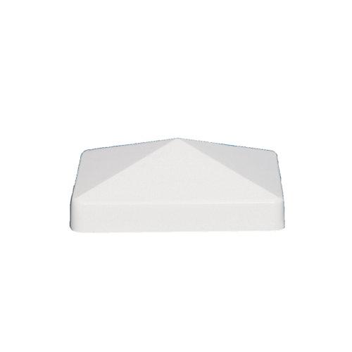 4 po x 4 po capuchon de poteau PVC Pyramid- blanc