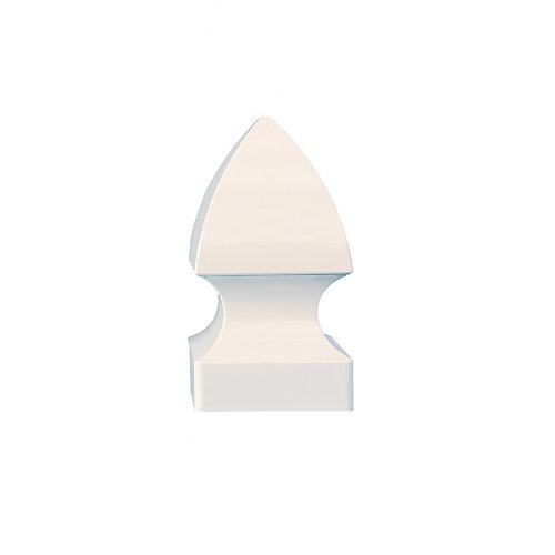 5X5 Gothic White Pvc Post Cap