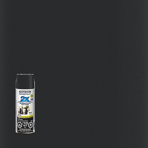 Ultra Cover Multi-Purpose Paint And Primer in Flat Black, 340 G Aerosol Spray Paint