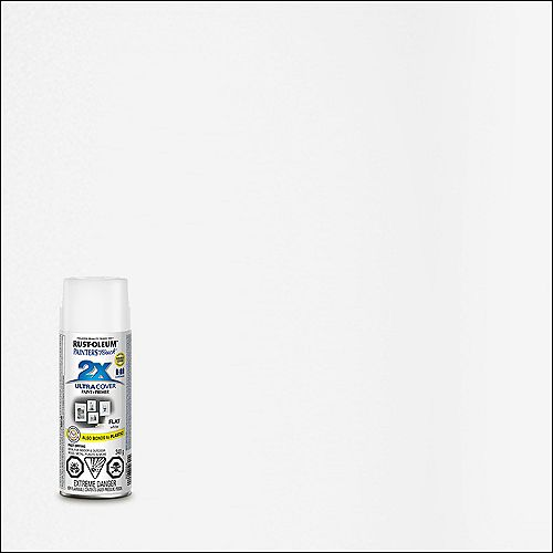 Rust-Oleum Painter's Touch 2X Peinture Multi Usages En Blanc Mat - 340 G Aérosol