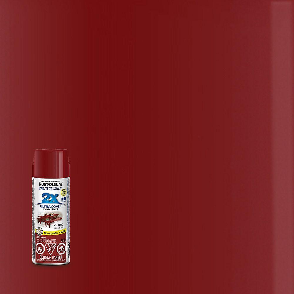 Rust-Oleum Painter's Touch 2X Peinture Multi Usages En Rouge Colonial Lustré - 340 G Aérosol