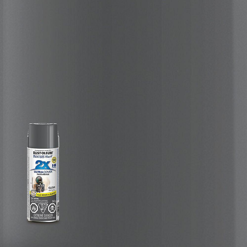 Rust-Oleum Painter's Touch 2X Peinture Multi Usages En Gris Foncé Lustré - 340 G Aérosol