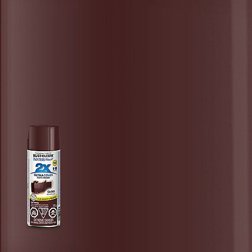 Rust-Oleum Painter's Touch 2X Ultra Cover Multi-Purpose Paint And Primer in Gloss Kona Brown, 340 G Aerosol Spray Paint