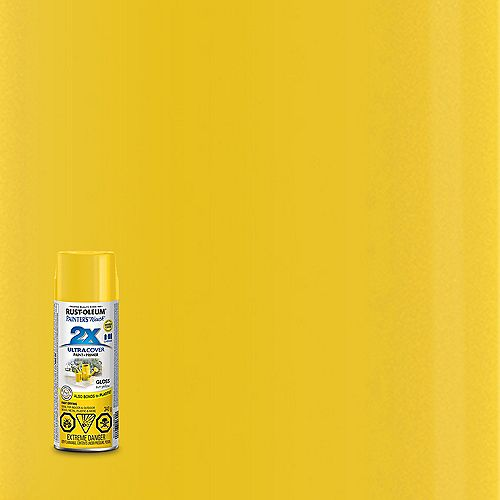 Rust-Oleum Painter's Touch 2X Ultra Cover Multi-Purpose Paint And Primer in Gloss Sun Yellow, 340 G Aerosol Spray Paint
