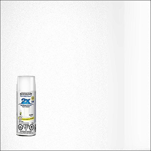Ultra Cover Multi-Purpose Paint And Primer in Gloss White, 340 G Aerosol Spray Paint