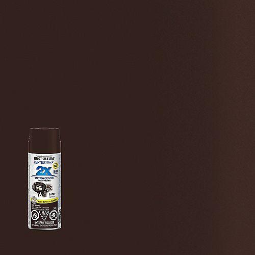 Ultra Cover Multi-Purpose Paint And Primer in Satin Espresso, 340 G Aerosol Spray Paint