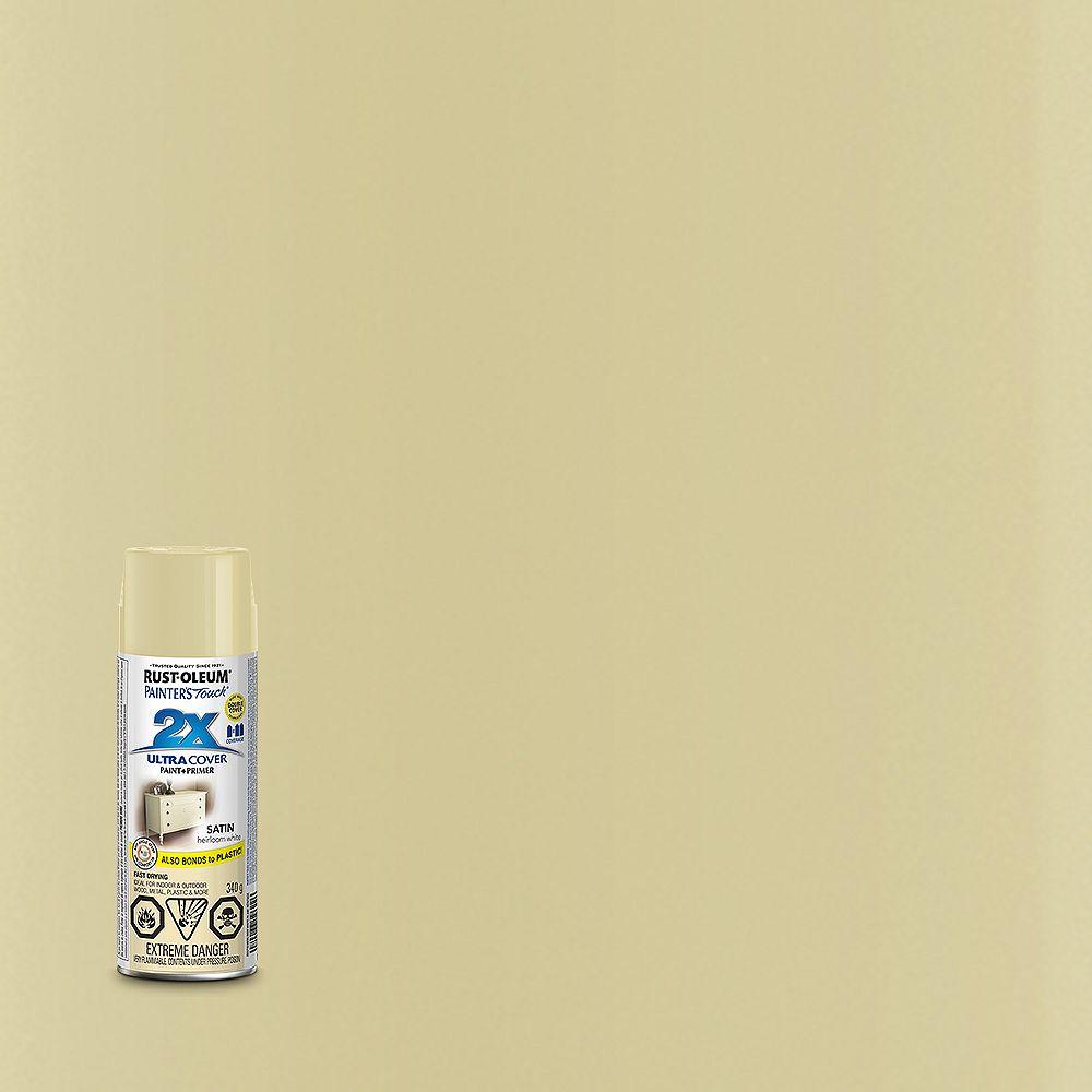 Rust-Oleum Painter's Touch 2X Peinture Multi Usages En Blanc Patrimoine Satiné - 340 G Aérosol