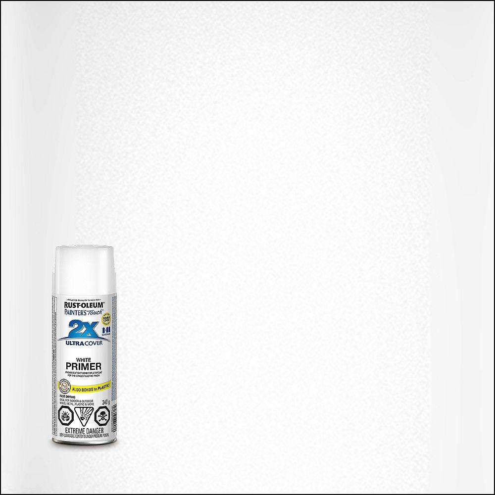 Rust-Oleum Painter's Touch 2X Ultra Cover Multi-Purpose Primer White, 340 G Aerosol Spray Paint