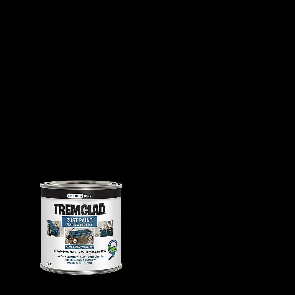 TREMCLAD Water-Based Rust Paint In Gloss Black, 946 mL