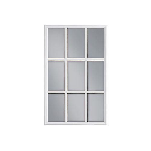 22-inch x 36-inch 9-Lite Internal Grille Low-E/Argon Glass Door Insert