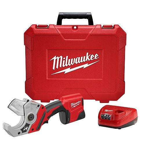 Milwaukee Tool M12 12-Volt Lithium-Ion Cordless PVC Shear Kit W/ (1) 1.5Ah Battery, Charger & Hard Case