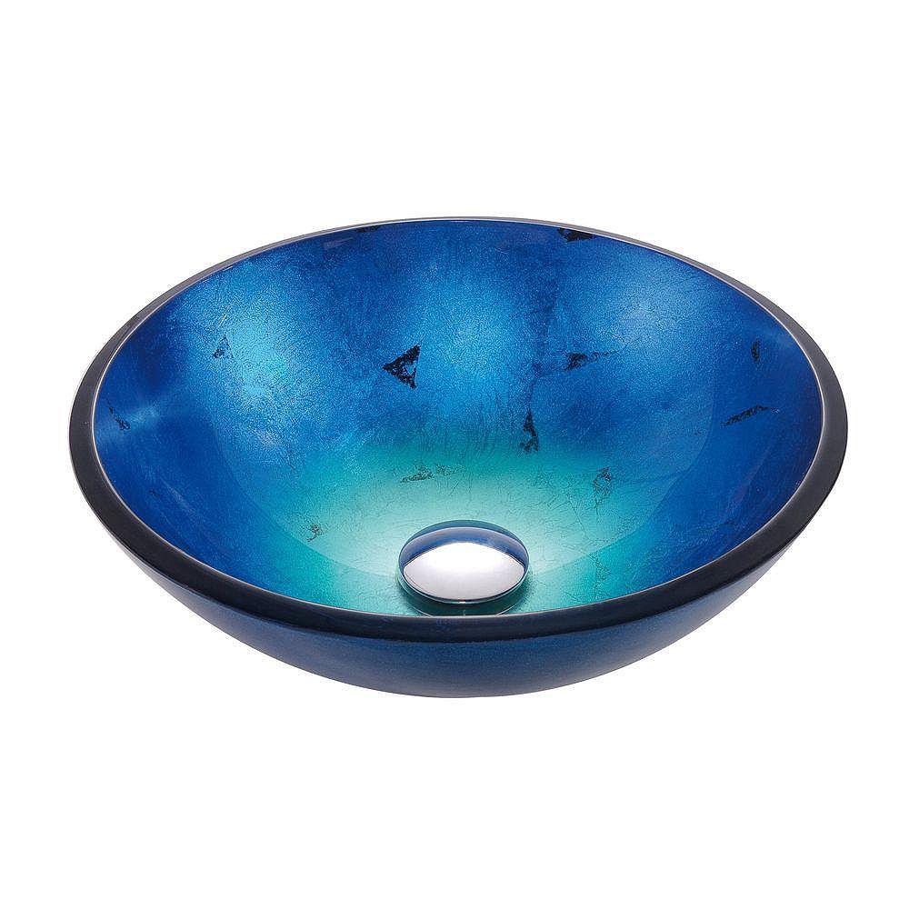 Kraus Irruption 16.5-inch x 5.5-inch x 16.5-inch Circular Glass Bathroom Sink