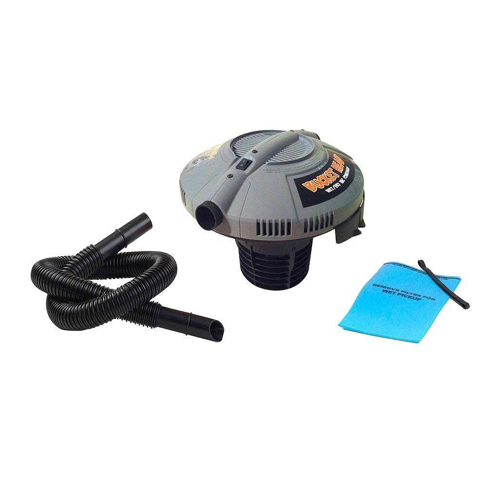 Bucket Head Wet Dry Vacuum Powerhead Lid for 19 Litre (5 Gal.) Multi-Use Buckets