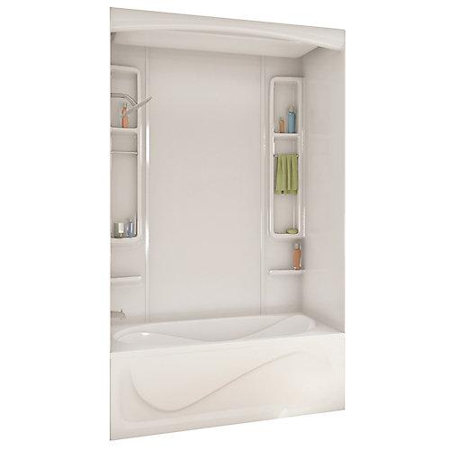Alaska 80 pouces -Contour de baignoire ou de douche en acrylique blanc