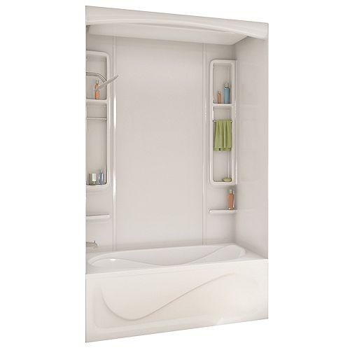 Kit de baignoire ou de mur de douche en acrylique blanc d'Alaska 80 pouces