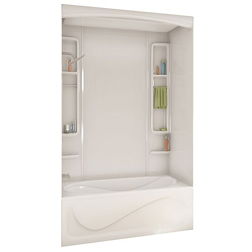 White Alaska Acrylic Tub Or Shower Wall Kit 80-inches