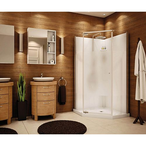 MAAX 36-inch x 36-inch Lobelia 6mm Frameless Neo-Angle Shower Stall Kit