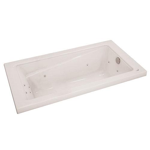 New Town 5 Feet Acrylic Drop-in Whirlpool Bathtub in White