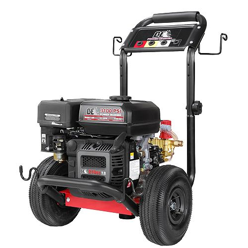 BE Pressure 3100-PSI 7-HP Gas Pressure Washer with PowerEase and Low Oil Alert