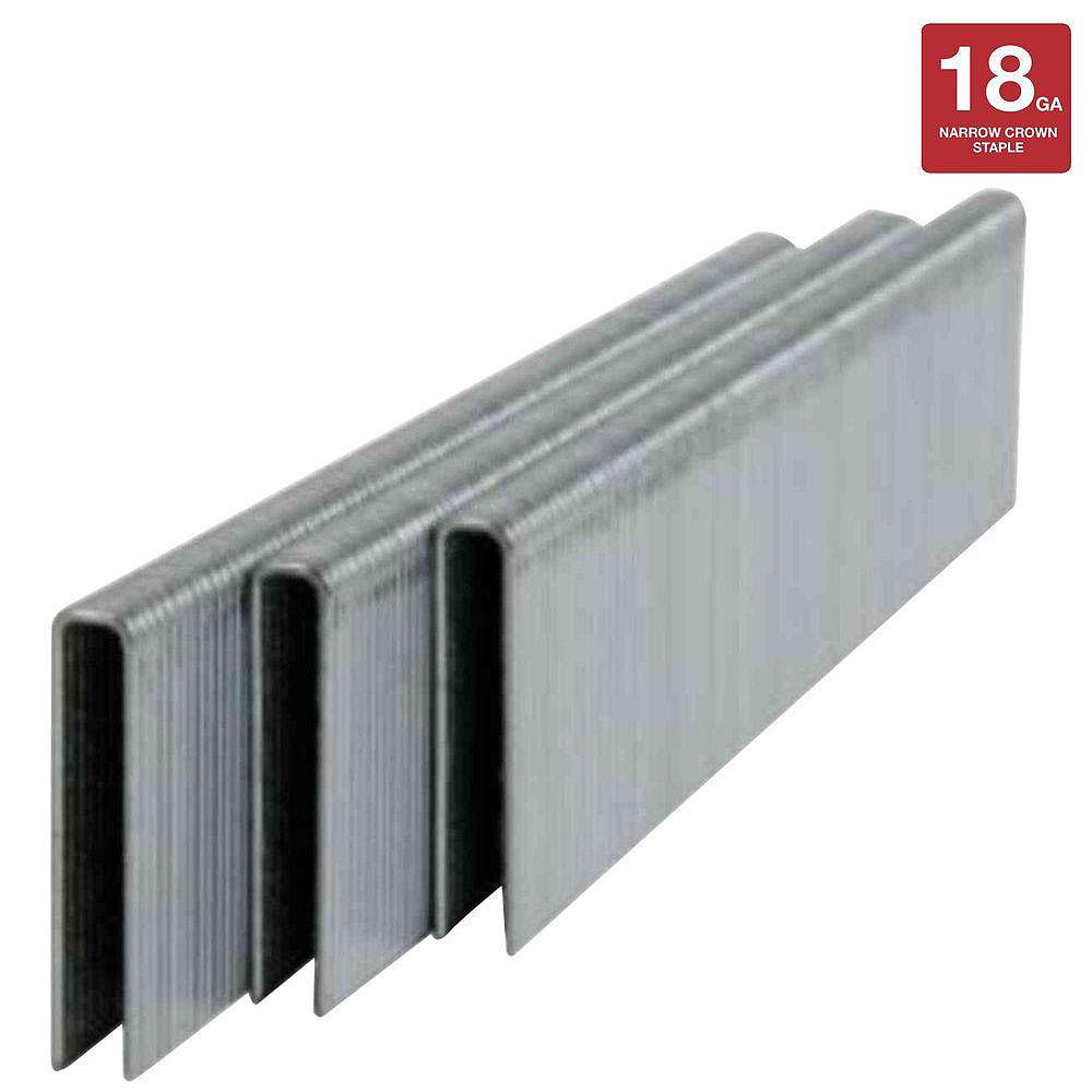 PORTER-CABLE 1-1/2-inch x 18-Gauge Narrow Crown Staples (5,000-Pack)